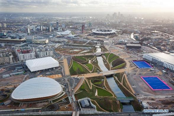 The Olympic Park in London.