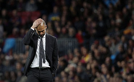 Pep Guardiola looks set to leave Barcelona