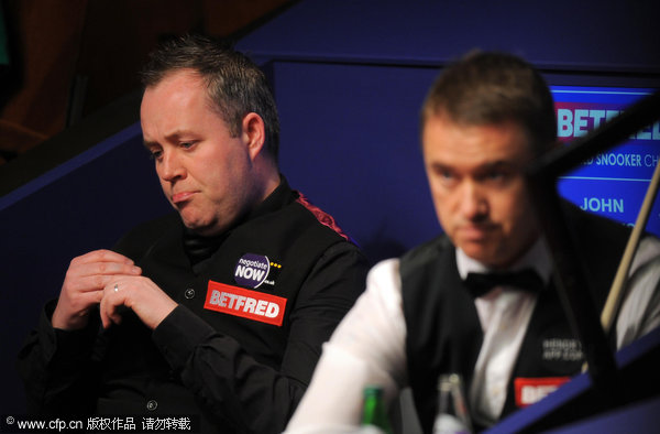 Higgins one frame from defeat by Hendry