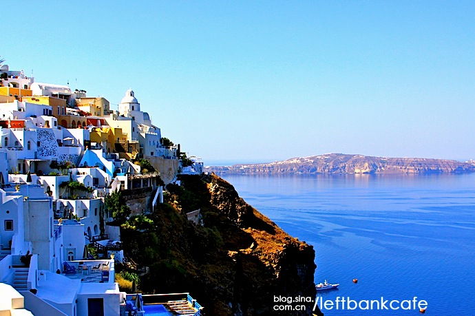 Santorini is an island in the southern Aegean Sea, about 200 km (120 mi) southeast from Greece's mainland.