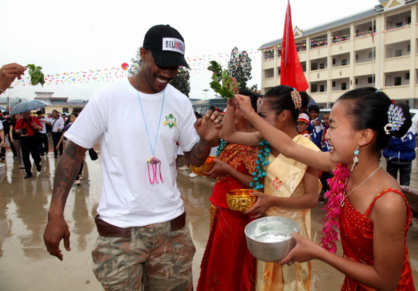 Marbury on charity tour in SW China