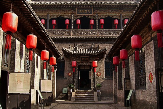 Courtyard of Family Qiao, one of the 'China's Top 10 folk houses' by China.org.cn