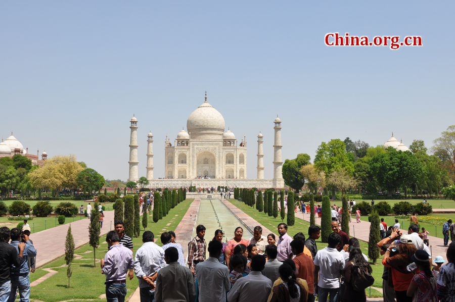 Taj Mahal is regarded as one of the eight wonders of the world, and some Western historians have noted that its architectural beauty has never been surpassed. The Taj is the most beautiful monument built by the Mughals, the Muslim rulers of India. Taj Mahal is built entirely of white marble.