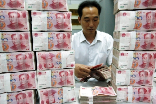Chinese companies are operating with 'alarming levels' of corporate debt, according to a study by a top Chinese think tank.