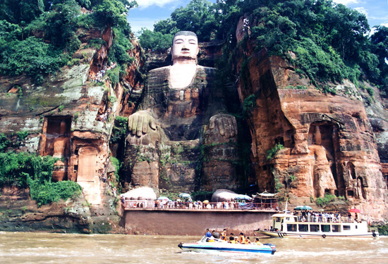 Leshan Giant Buddha, one of the 'top 10 attractions in Sichuan, China' by China.org.cn.