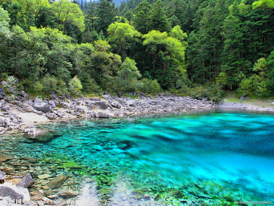 Jiuzhaigou Valley, one of the 'top 10 attractions in Sichuan, China' by China.org.cn.