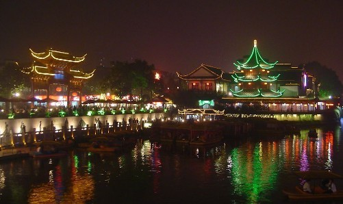 Qinhuai River, one of the 'top 10 attractions in Jiangsu, China' by China.org.cn.