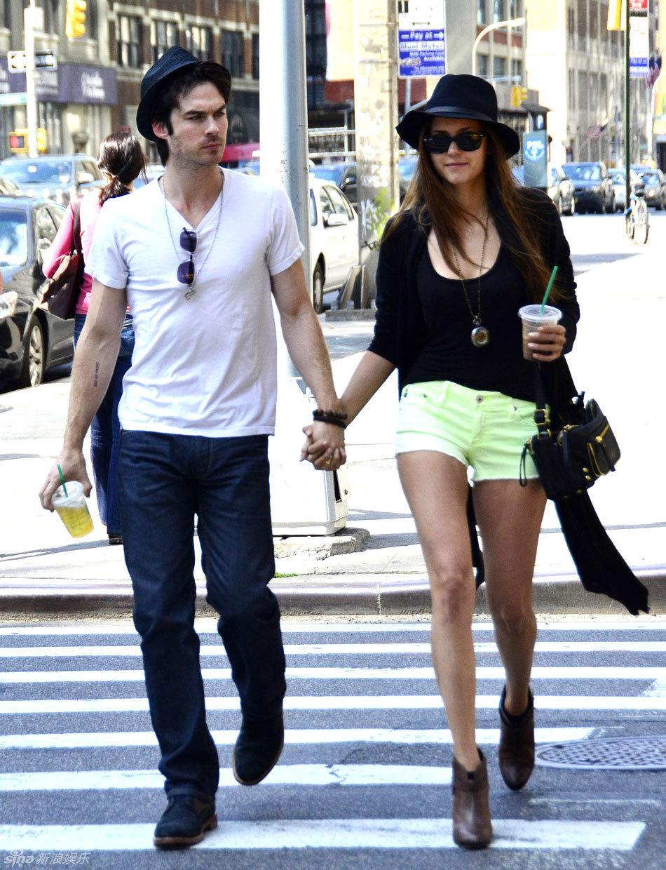 Nina Dobrev Appears In NY With Her Boyfriend Ian