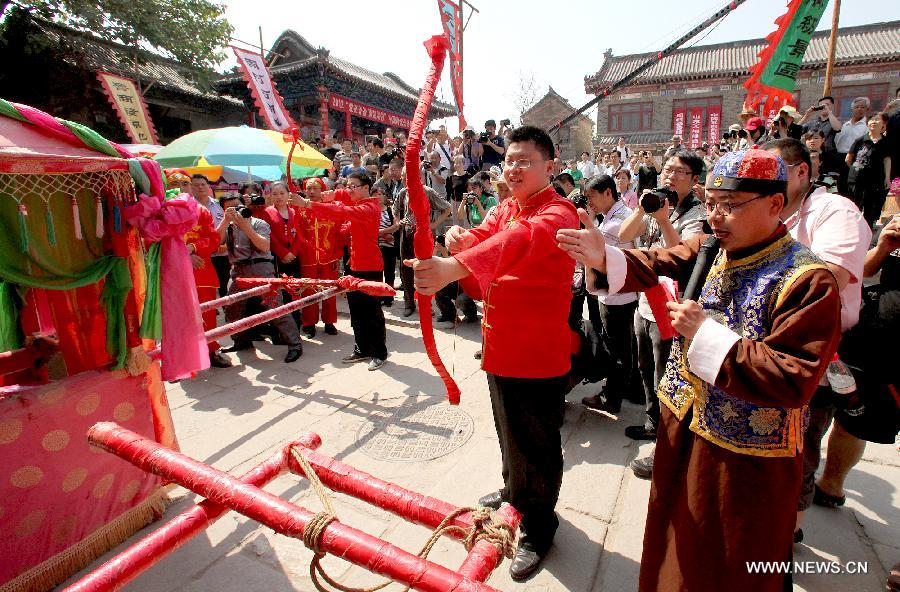 Traditional wedding held in Shandong province - China org cn