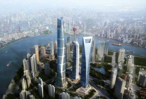 As the iconic Shanghai Tower is being constructed in the city's Manhattan-like district of Pudong, Shanghai is having another 'race to the sky.'