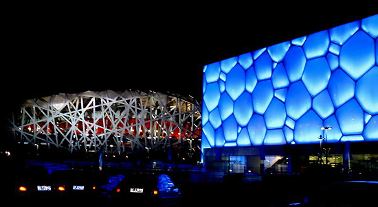 Bird's Nest and Water Cube, one of the 'top 15 attractions in Beijing, China' by China.org.cn.