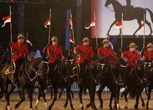 The Royal Canadian Mounted Police perform during the Diamond Jubilee Pageant in Windsor Horse Show in London, Britain, May 12, 2012.