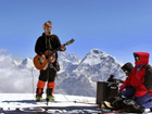 British musician sets world record by performing in Himalayas