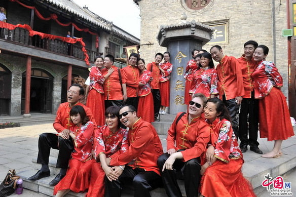 Traditional wedding held in Shandong
