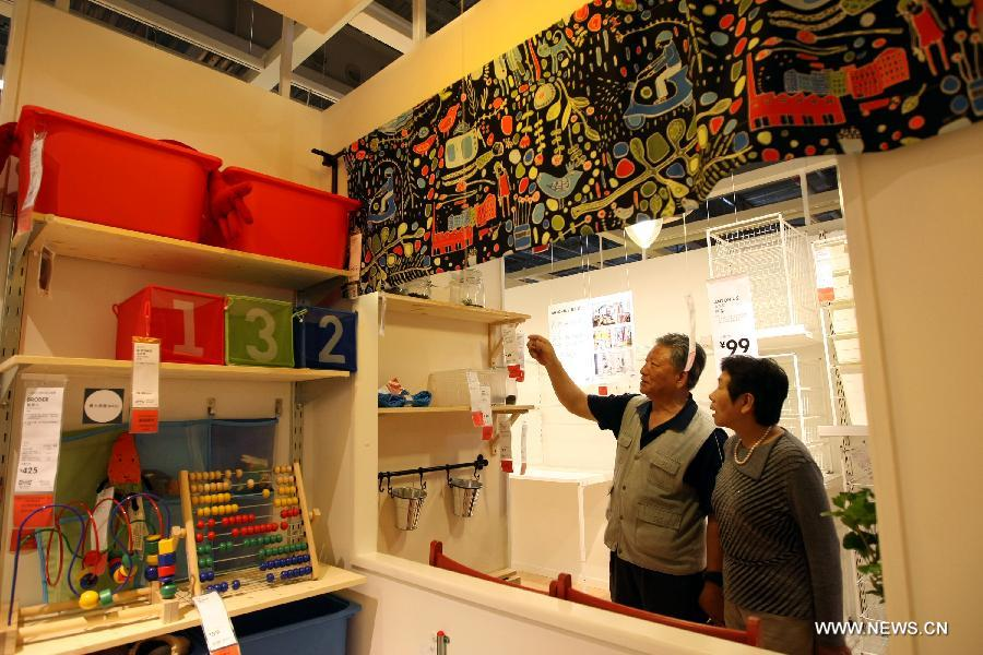 2nd largest ikea store in china opens in wuxi. Black Bedroom Furniture Sets. Home Design Ideas