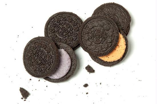 Oreos come in blueberry, orange, and peanut flavors.