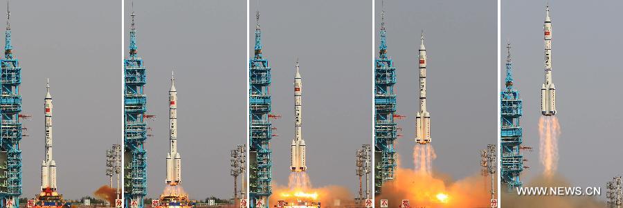 (SHENZHOU-9-TIANGONG-1) CHINA-JIUQUAN-SPACECRAFT-SHENZHOU-9-LAUNCH (CN)