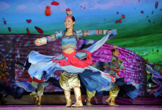 Mongolia dances debut at the 3rd annual china ningxia international