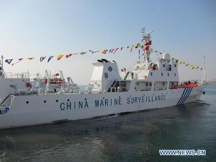 China Marine Surveillance ships. [Xinhua]