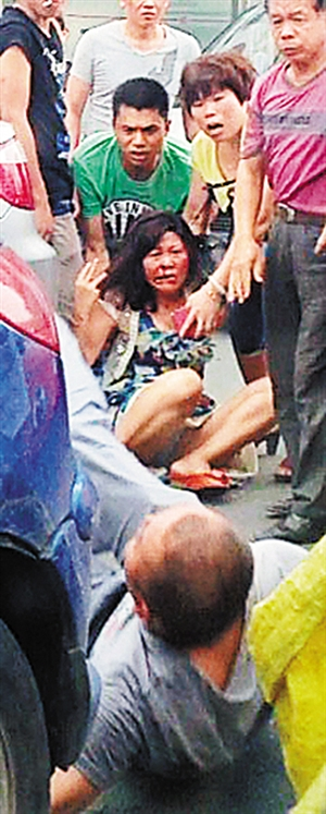 A drunk man blocked the woman's car on the road and bit her face on June 29.