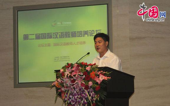 教育部教师工作司司长葛振江在开幕式上致辞