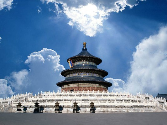 The Temple of Heaven in southern Beijing is China's largest existing complex of ancient sacrificial buildings.