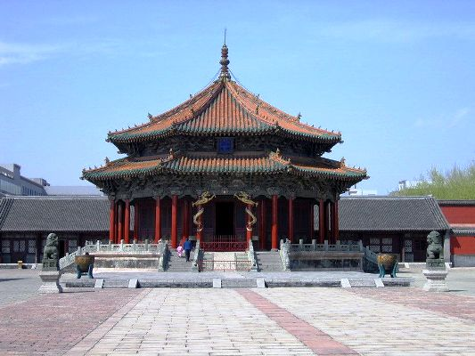 Shenyang Imperial Palace, built between 1625 and 1636, is the former imperial palace of the early Qing Dynasty (1644-1911).