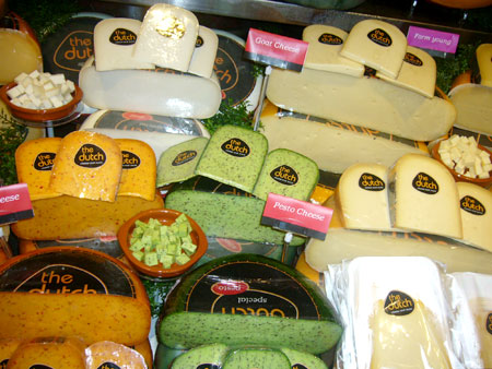 An impressive selection of cheeses to satisfy any customer. [Donna Mah/China Daily]