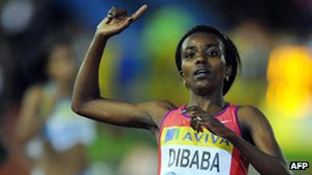 Tirunesh Dibaba from Ethiopia