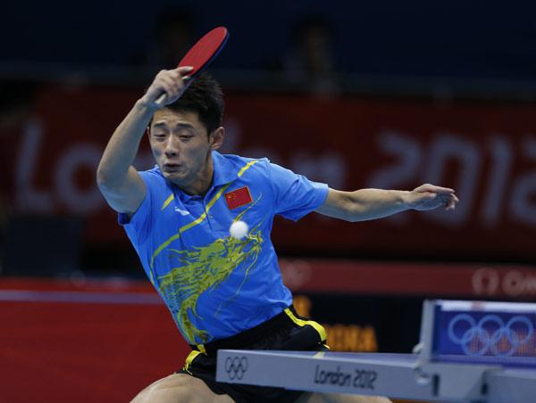 Zhang Jike wins Olympic debut show - China.org.cn