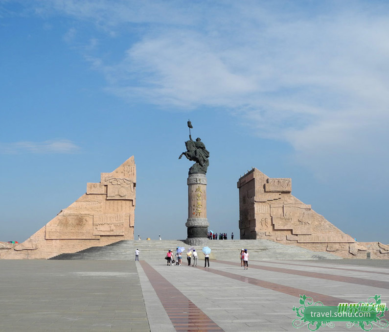 The Genghis Khan Mausoleum is located in Erdos City of Inner Mongolia Autonomous Region. It was built by Chinese government from 1954 to 1956.