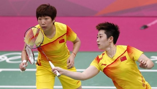 Chinese shuttlers Yu Yang and Wang Xiaoli lost in a suspicious way in women's doubles Tuesday evening at the Wembley Arena, which was hissed and booed by the crowd watching the competition. [Xinhua]
