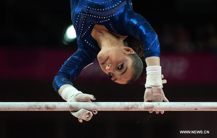 0a7cc790f8a5 Aliya Mustafina of Russia competes in uneven bars event during women's  individual all-around competition of gymnastic artistic at the London 2012  Olympic ...