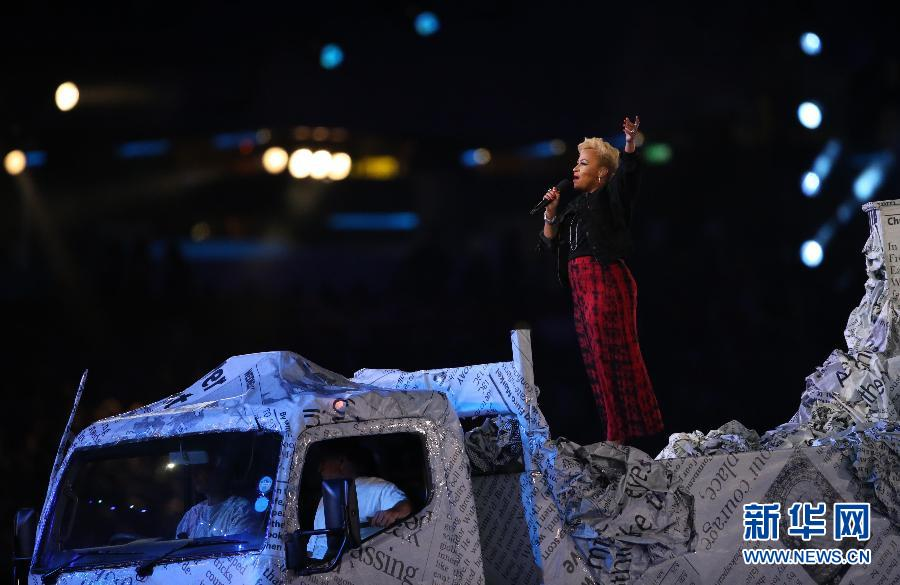 Performance at the Olympics closing ceremony.