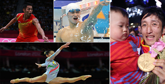 Chinese gold medalists at the London Olympic Games