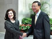 Chinese FM meets Assad's special envoy