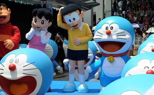 Doraemon celebrates beithday 100 years early
