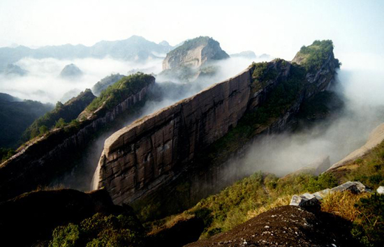 Mount Guanzhai, one of the 'top 10 attractions in Fujian, China' by China.org.cn.