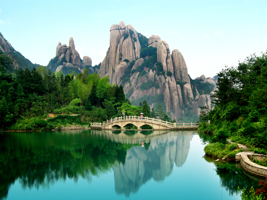 Mount Taimu, one of the 'top 10 attractions in Fujian, China' by China.org.cn.