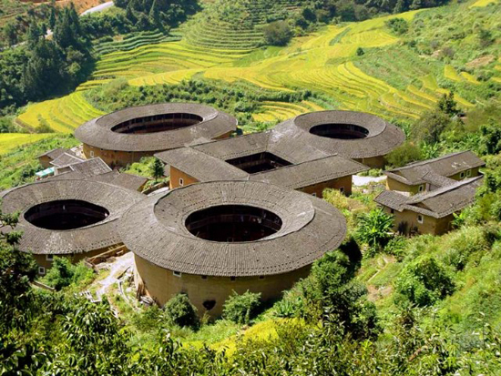 Fujian Tulou, one of the 'top 10 attractions in Fujian, China' by China.org.cn.