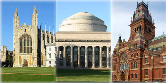 Top 20 world universities 2012/13