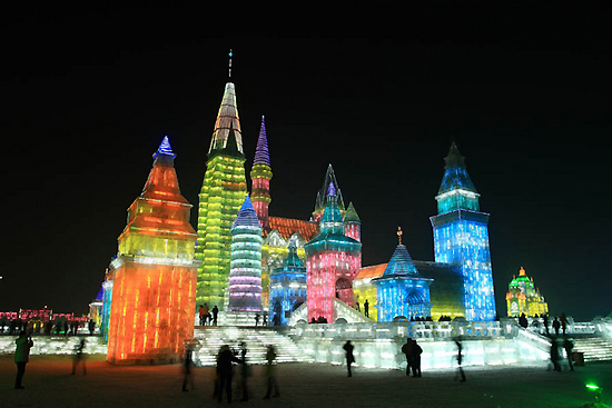 Harbin Ice and Snow World, one of the 'top 10 attractions in Heilongjiang, China' by China.org.cn.