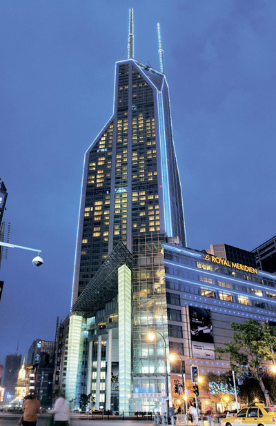 Shanghai Shimao International Plaza, one of the 'top 10 over-priced buildings in China' by China.org.cn.