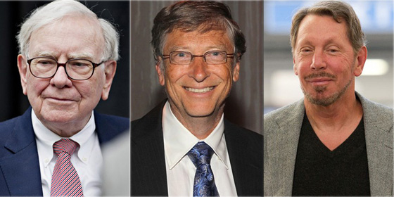 Top 10 richest people in America of 2012