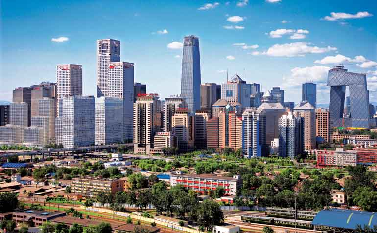 Beijing tops PwC's list of cities' economic clout.[File photo]