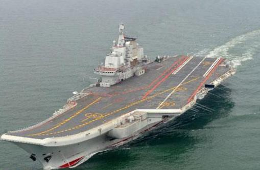 China's first aircraft carrier leaves port