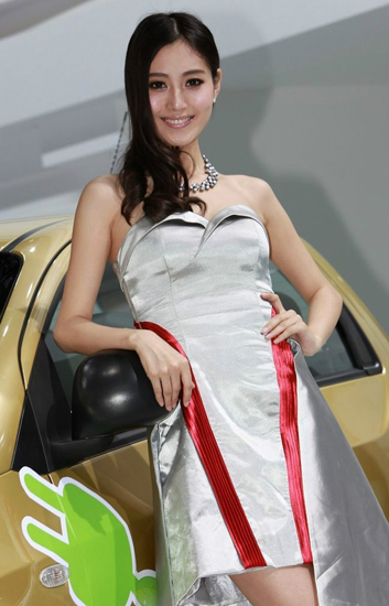 Pang Hanyue,one of the 'Top 10 auto show models in China of 2012'by China.org.cn.