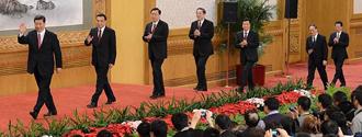 十八届中央政治局常委同中外记者见面 China's new top Party leaders meet the press
