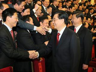 胡锦涛、习近平等会见十八大代表并发表重要讲话 Hu, Xi meet delegates to 18th CPC National Congress
