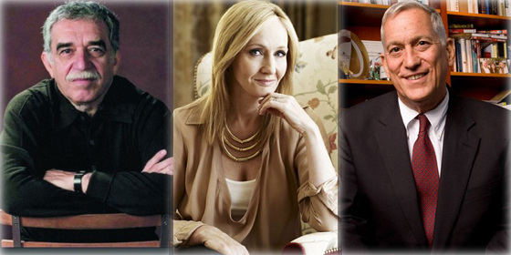 Top 10 most popular foreign writers in China 2012